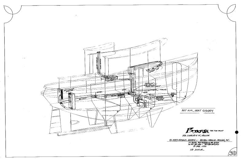 Boat Schematic Drawing