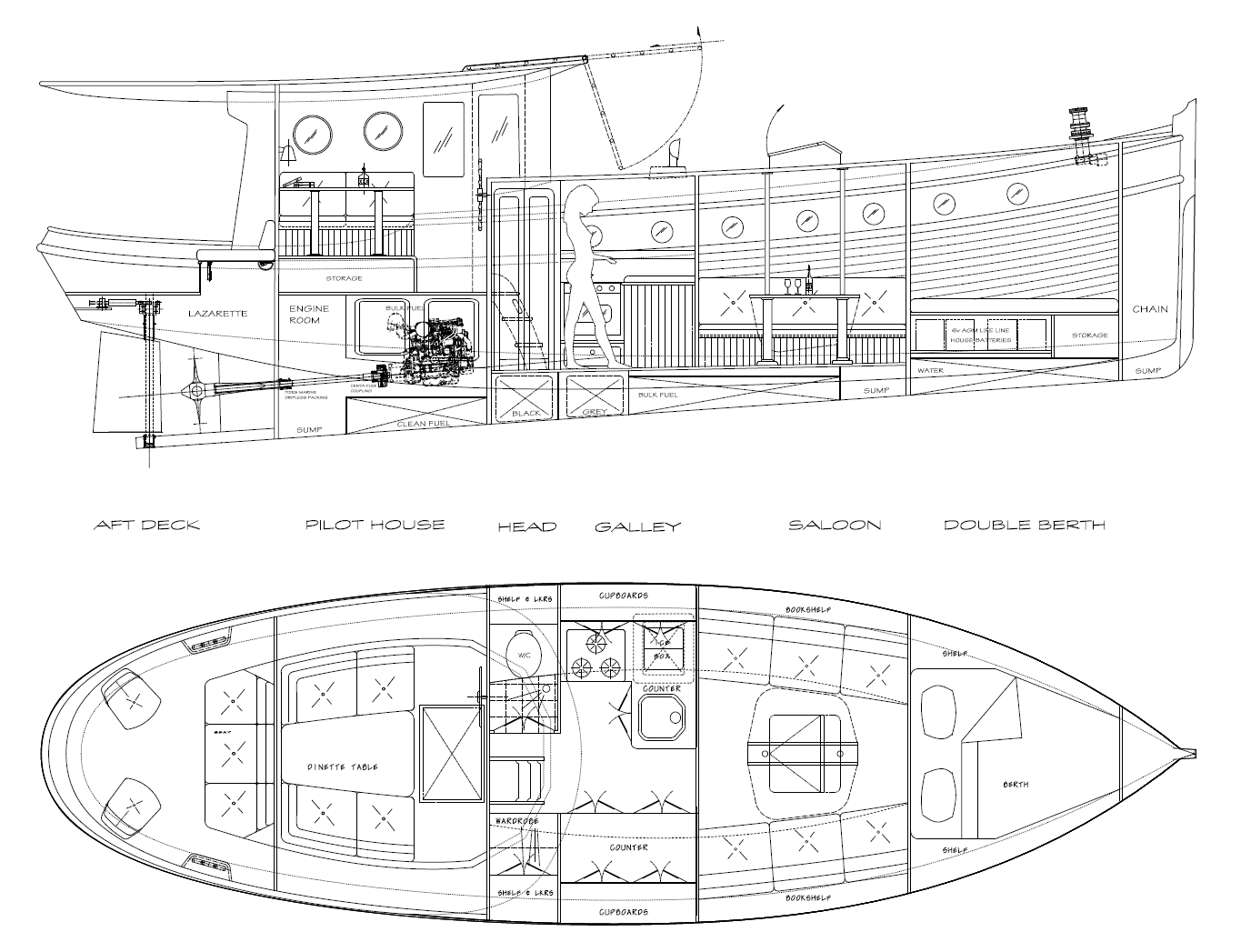 36 Molly Kasten Marine Design : molly36intlayout from www.kastenmarine.com size 1376 x 1047 png 195kB