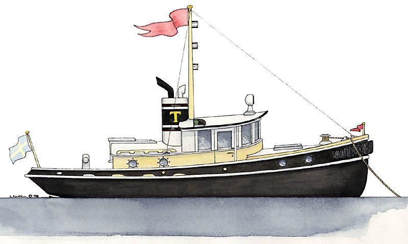 The 32' Tug Yacht TERRIER - Kasten Marine Design, Inc