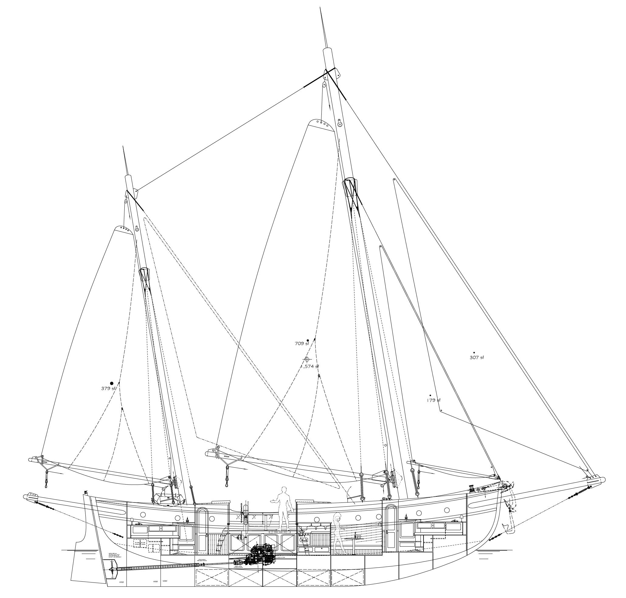 Tfm Sailboat Black And White