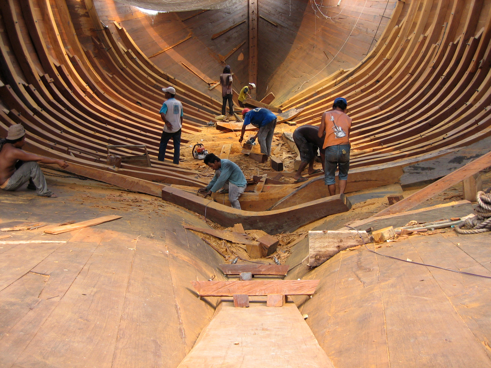 Image result for indonesian boat building