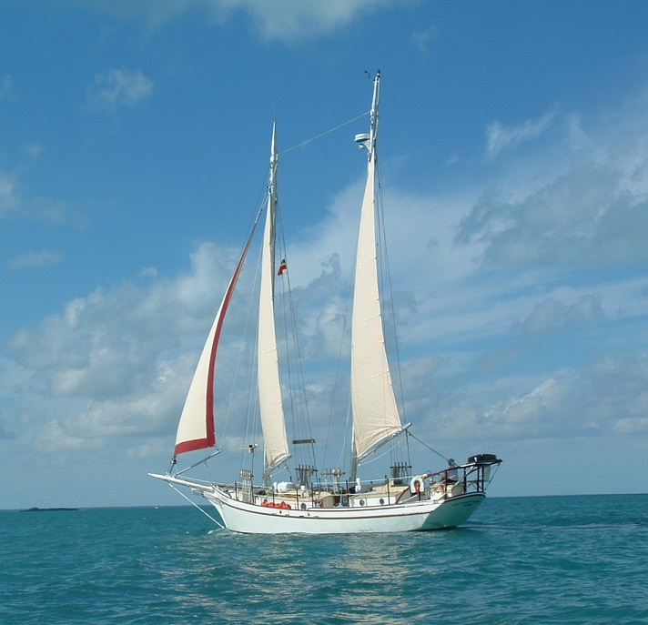 The 44' Schooner Redpath Under Sail - Kasten Marine Design, Inc