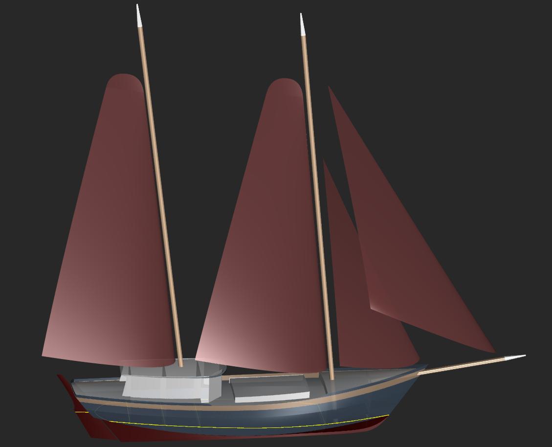 100 Cargo Skipjack Kasten Marine Design