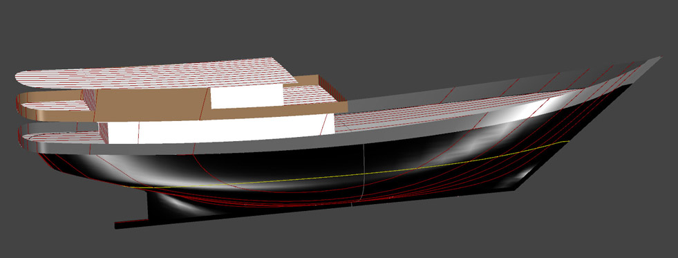 A 50 Meter Traditional Indonesian Kapal Layar Mesin for Luxury Charters - Kasten Marine Design, Inc.