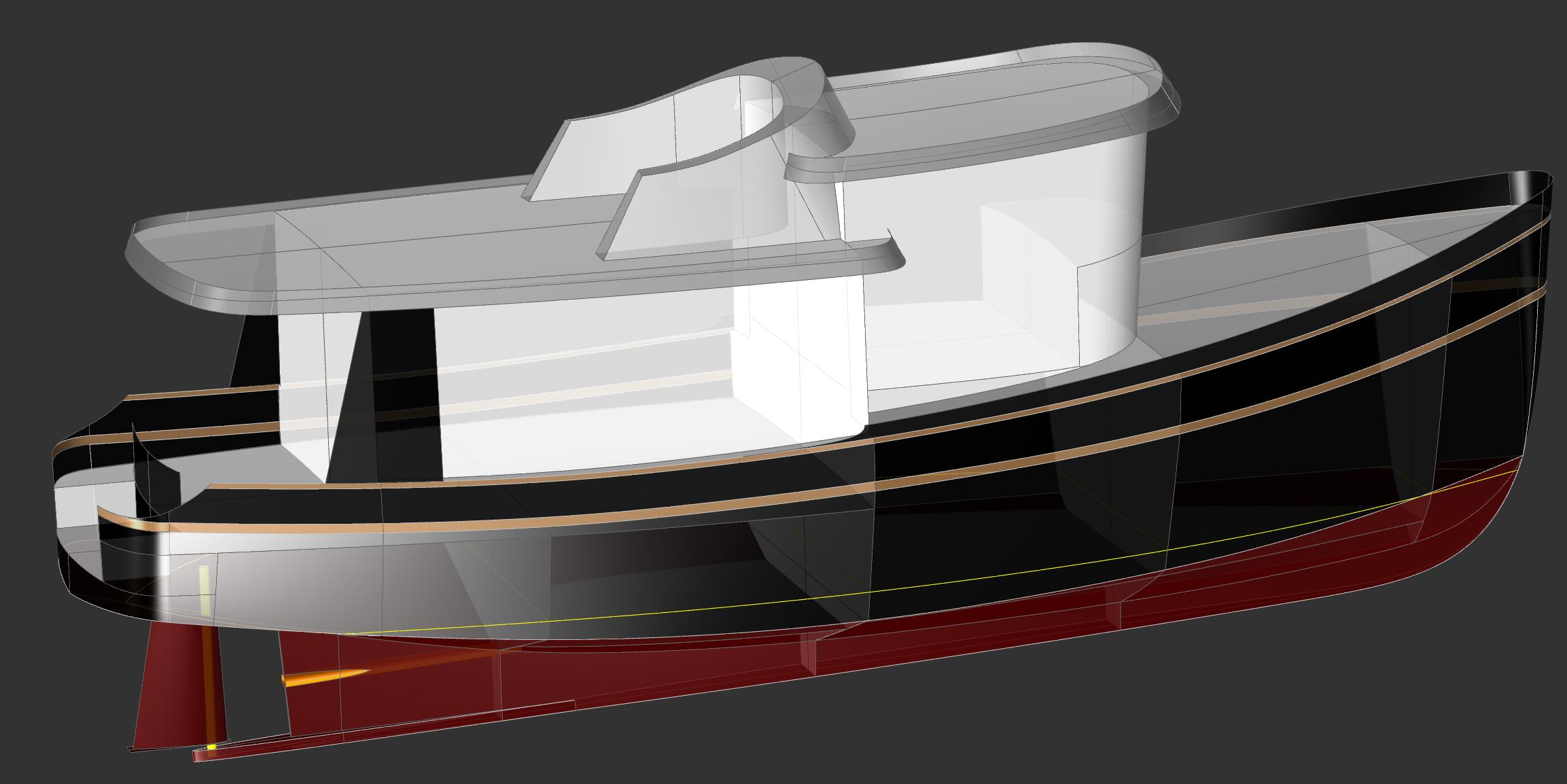 45 Widebody Motor Yacht Kasten Marine Design
