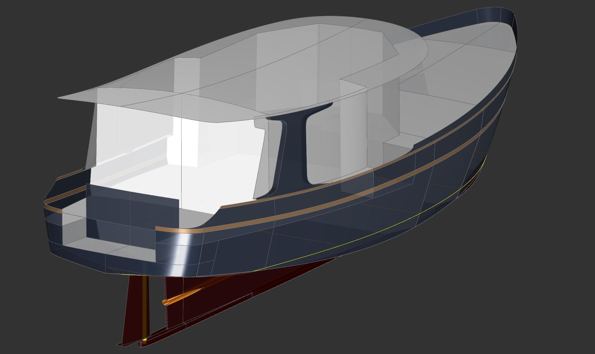 45' Trawler Yacht NOMAD - Kasten Marine Design