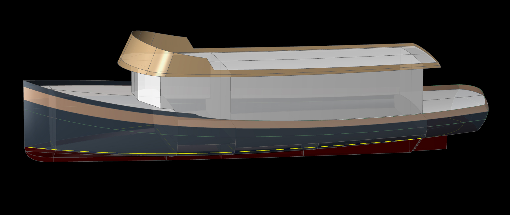 50' River Boat AMAZON - Kasten Marine Design