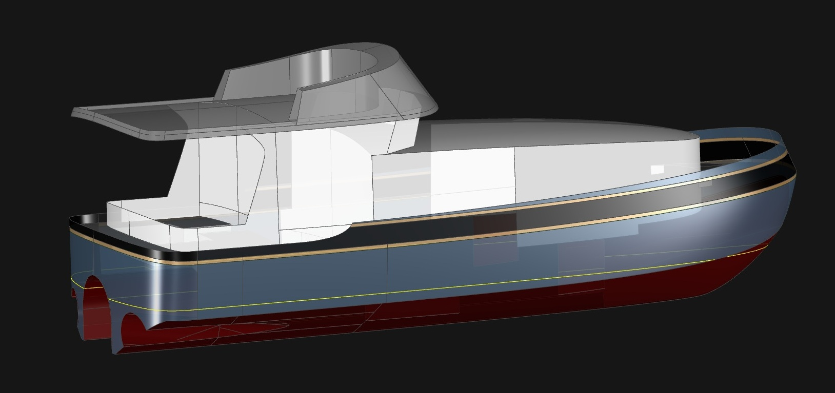 50' Fast Tunnel Cat - Kasten Marine Design, Inc.
